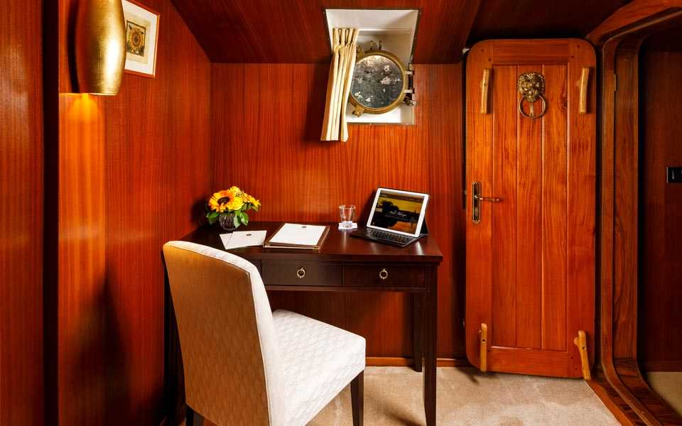 View of the Imperial Suite on board La Reine Pedauque